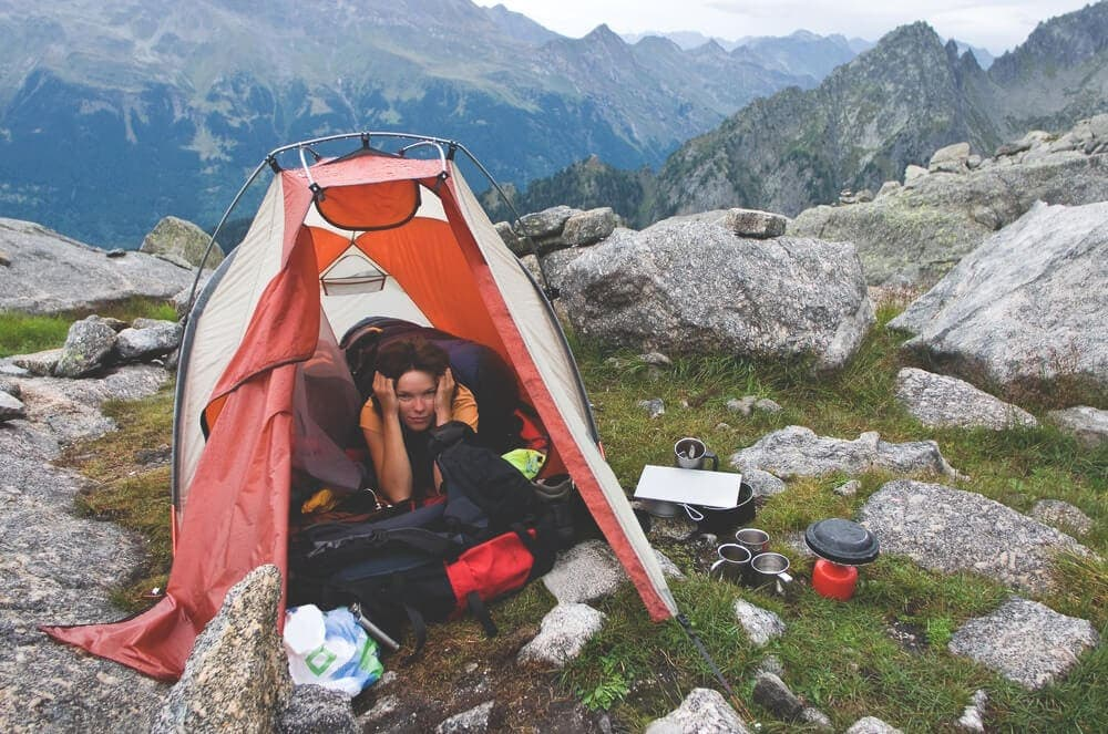 Authentic rugged minimal camping unlike glamping