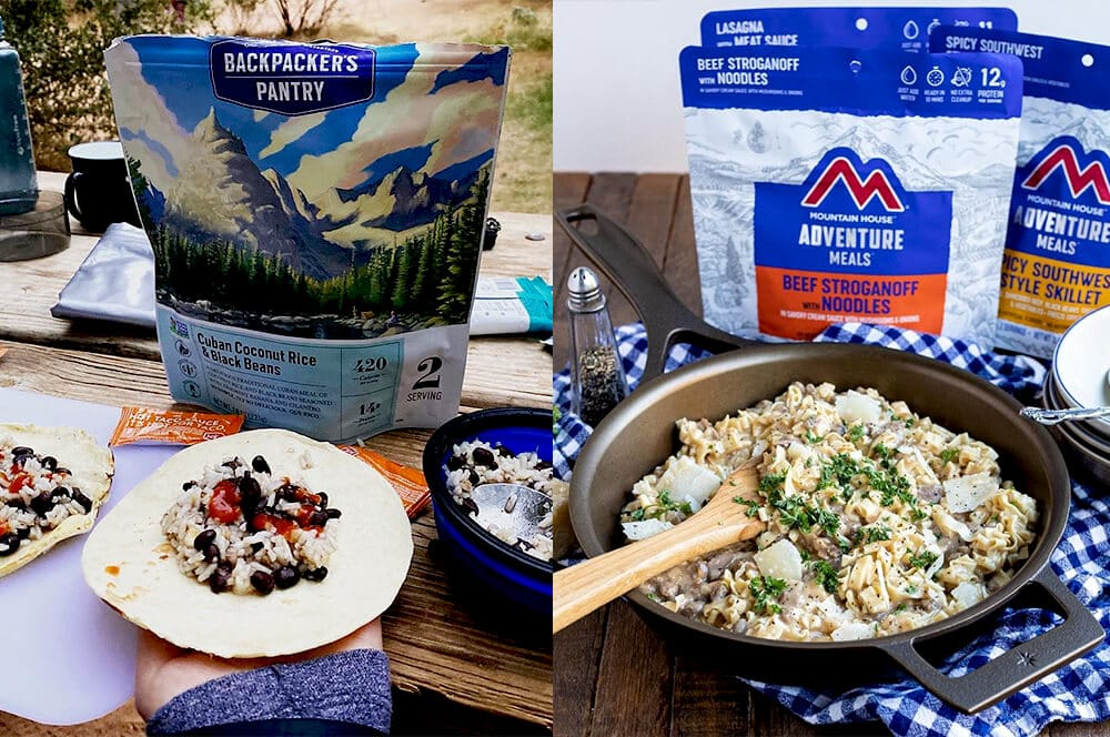Backpackers pantry vs mountain house meals prepared