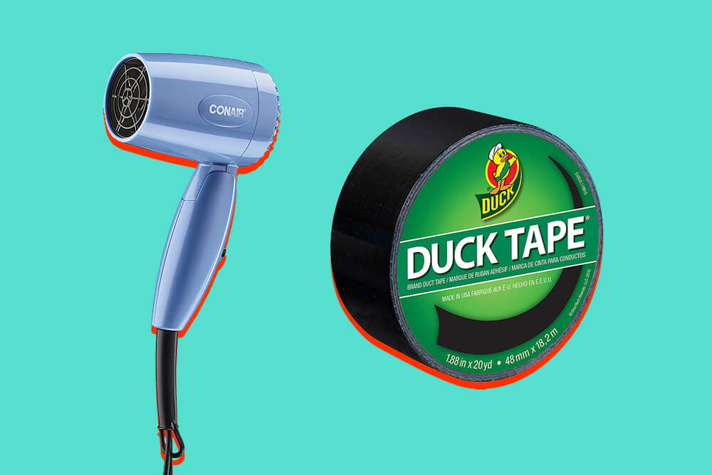 CONAIR COMPACT HAIR DRYER X DUCK DUCT TAPE
