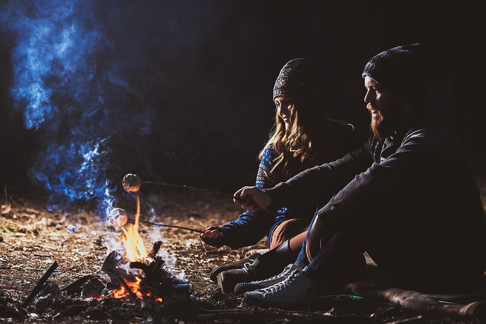 Campfires and marshmallows is fun