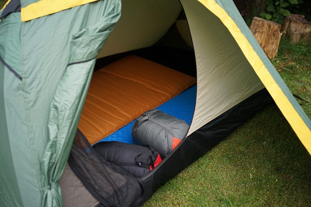 Clean and organised tent setup for comfort