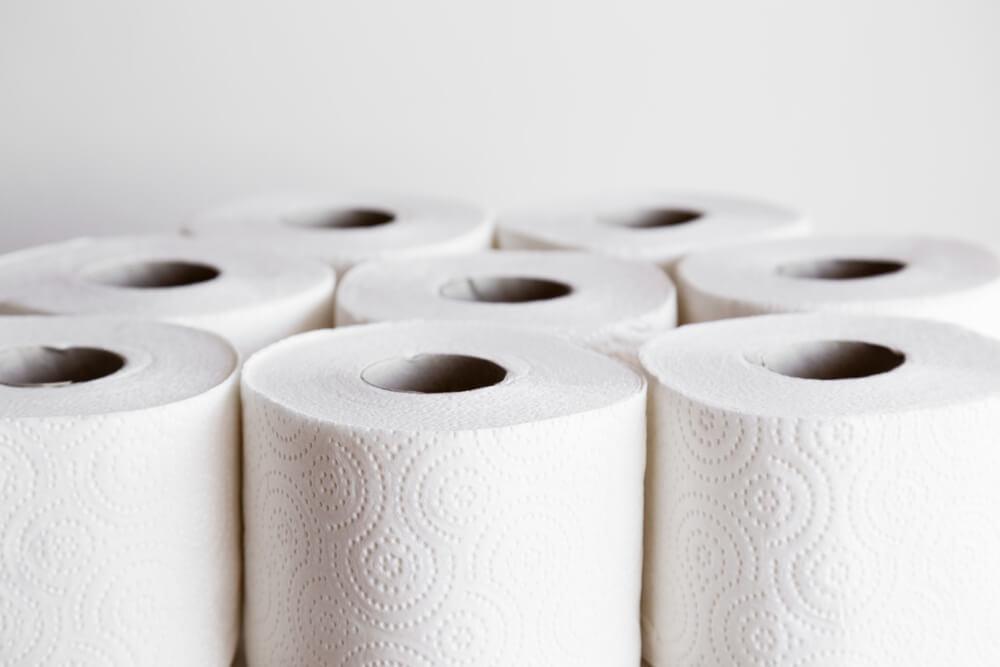 Commercial toilet paper rolls