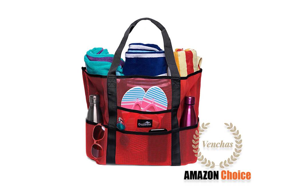 Dejaroo Mesh Beach Bag Toy Tote Bag Large