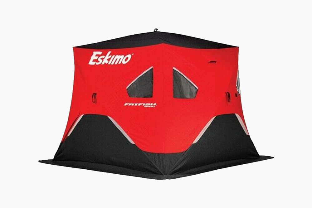 Red and Black Eskimo Quickfish Cube Tent