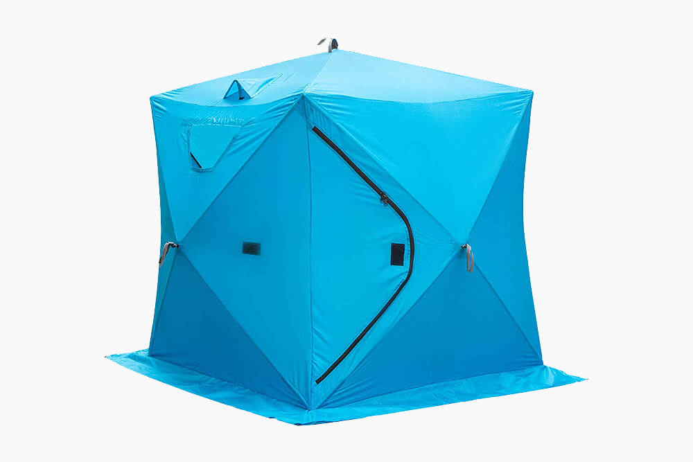 Blue HappyBuy Ice Fishing Cube Tent