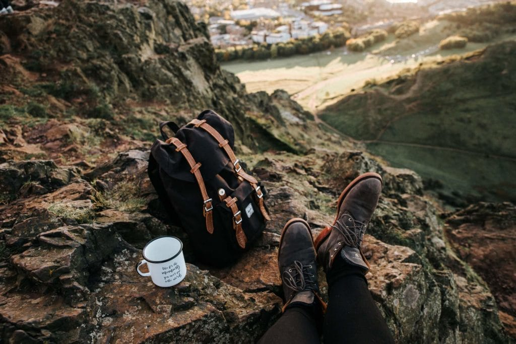 Hershel backpack camping with coffee how to clean