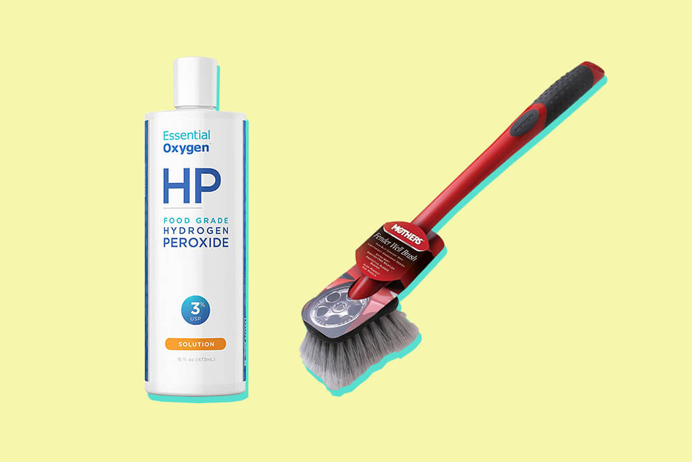 Hydrogen peroxide brush method