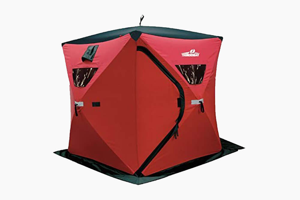 Red and Black Ice Cube 6-Man Portable Shelter