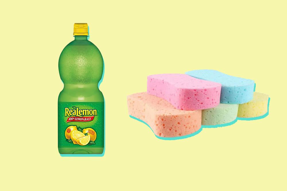 Lemon juice sponge method