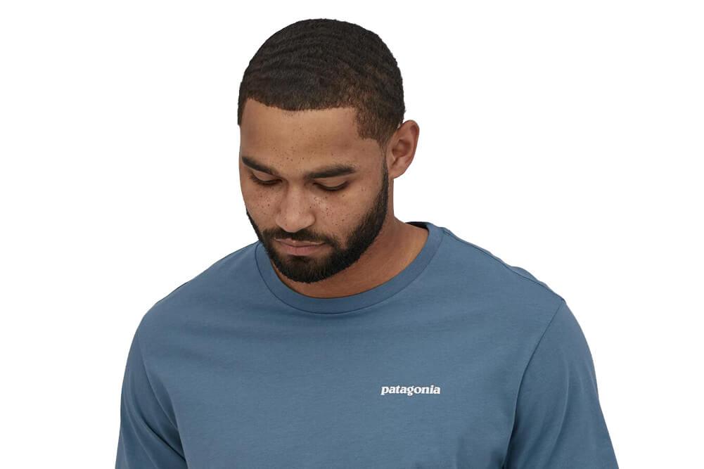 Men's P-6 Logo Organic Cotton T-Shirt teal style front