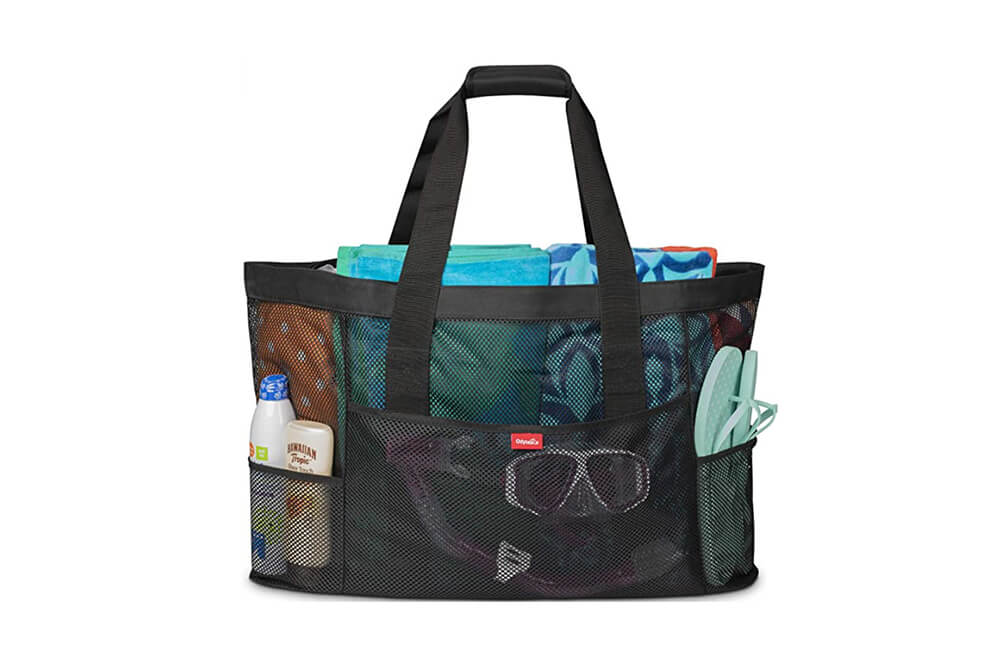 Oahu XL Mesh Beach Bag, Large Beach Tote, Pool Bag, Extra Heavy Duty Beach Bag