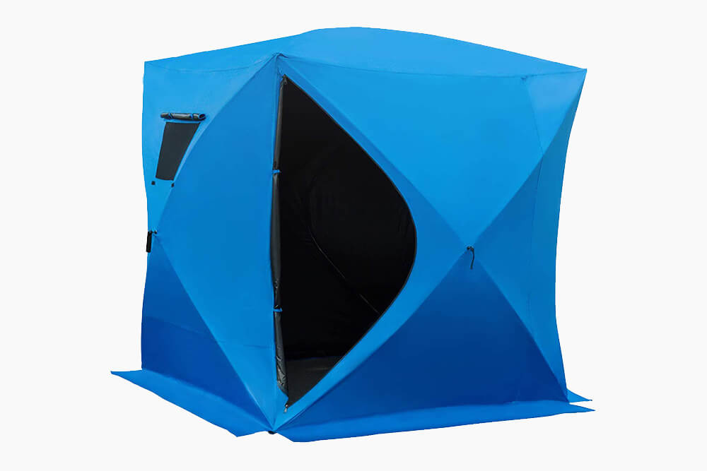 Blue Outsunny 4-Person Fishing Shelter