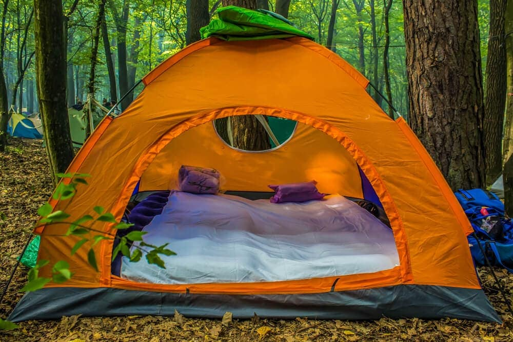 Pillows and blankets extra layers of camping comfort