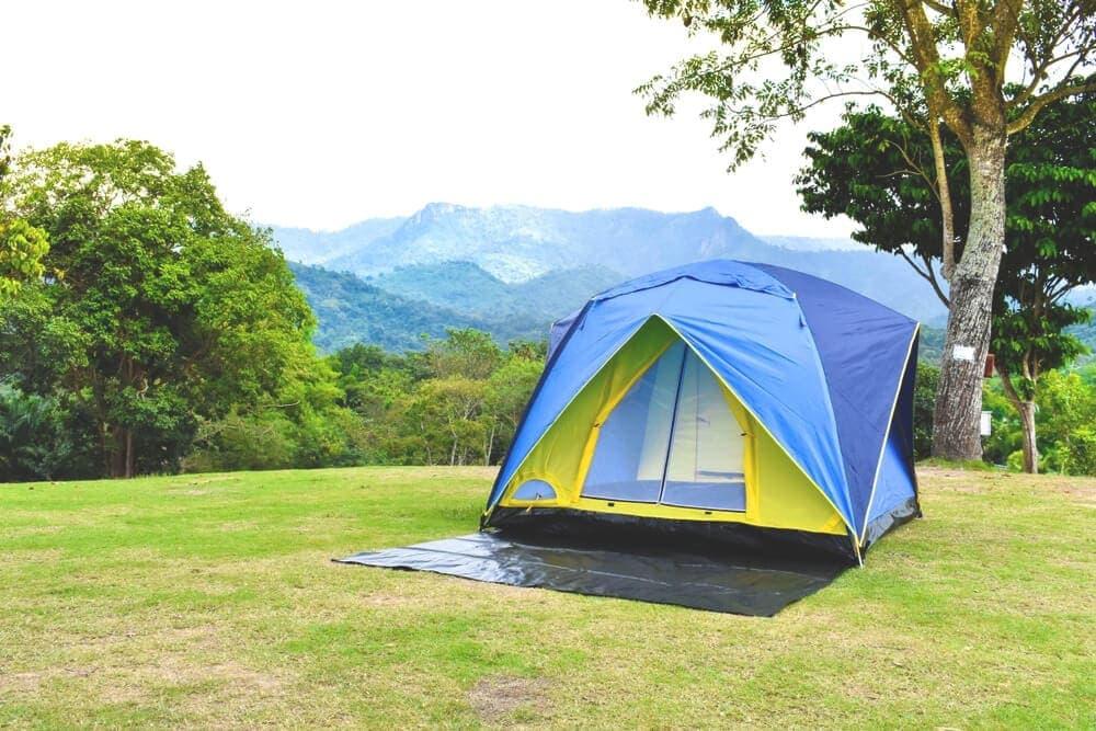 Tent under tarp
