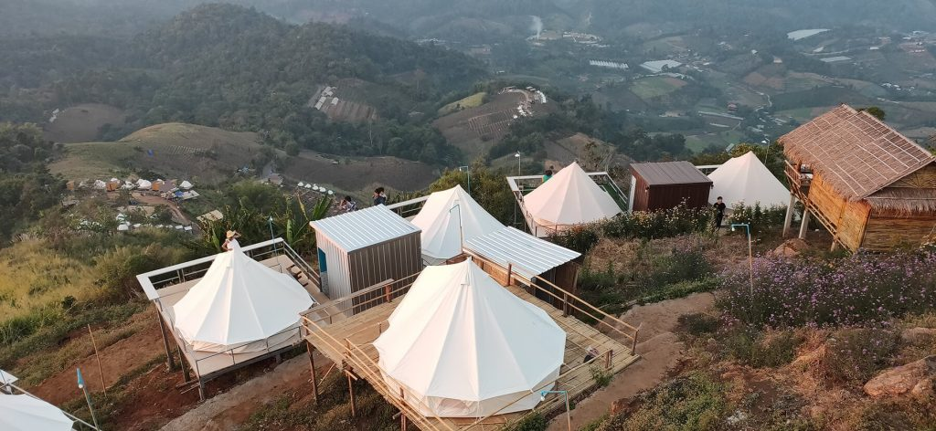 Thailand glamping retreat in summer