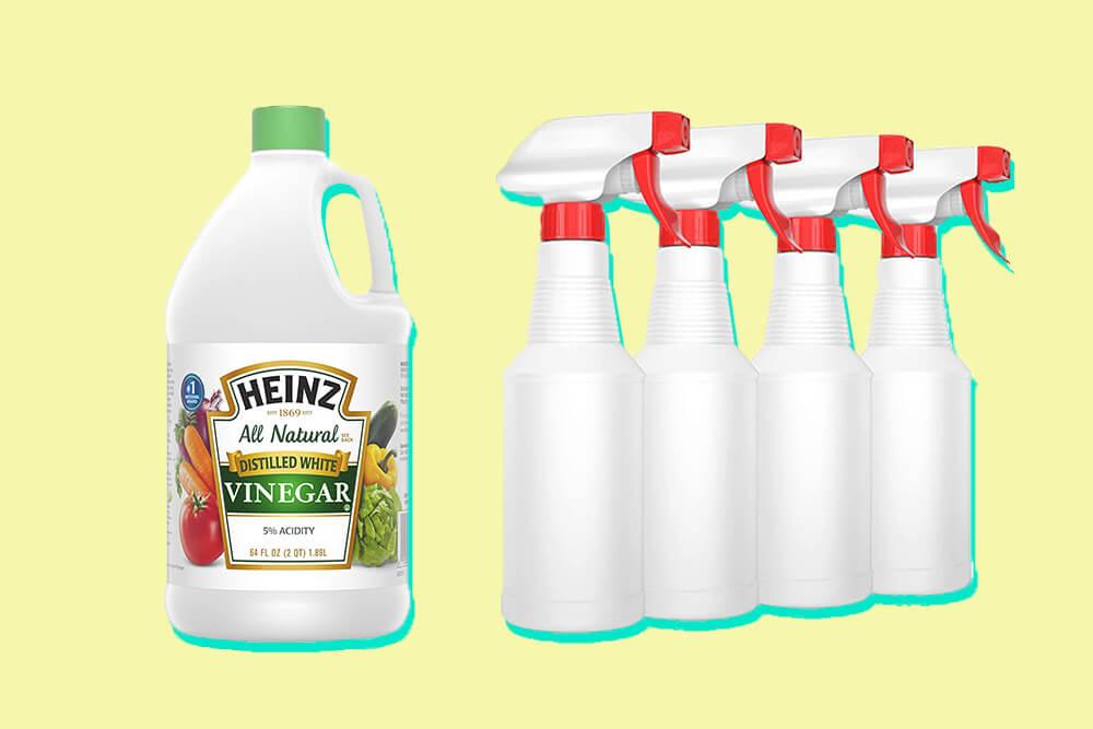 Vinegar Spray Bottles method