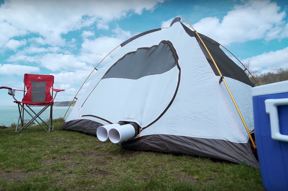 Zero breeze review expelling hot air out of a camping tent in summer