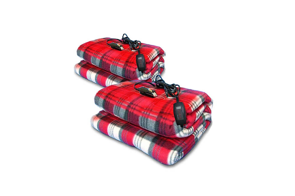 Zone-Tech-Car-Heated-Travel-Blanket-Plaid-Premium-Quality-12V-Automotive