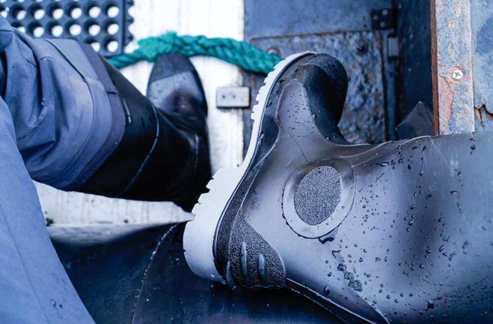 rubber expedition boots for ship in Antarctica